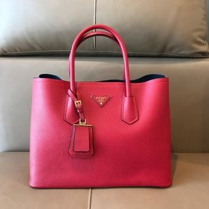 Prada Red Leather Tote . ! New !